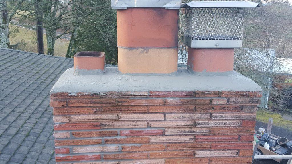 Raised flue tile
