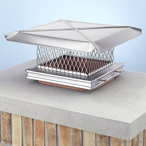12″ x 16″ Stainless Steel Rain Cap – The Chimney Sweep's Choice